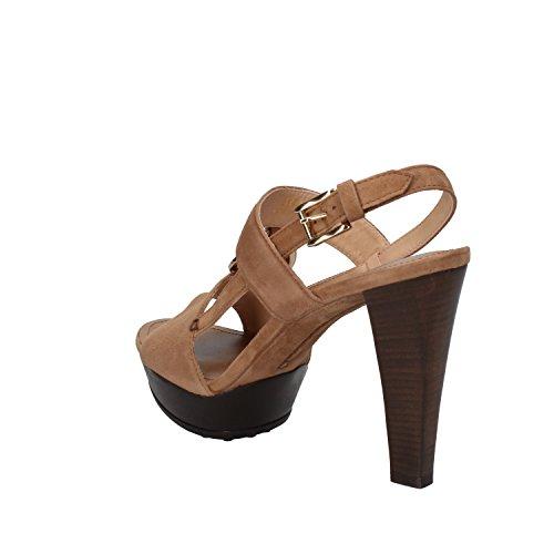 TODS sandalias mujer marrón gamuza