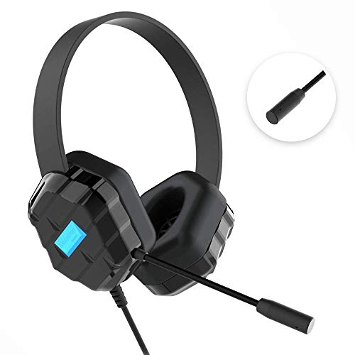 (Gumdrop DropTech B1 Over-Ear Headset with Chew-Proof Cord, Boom Mic, 3.5 mm Audio Jack for Classroom, K-12 Students, Teachers, Kids - Black, Rugged, Shock Absorbing, Noise Cancelling, Plug and Play)