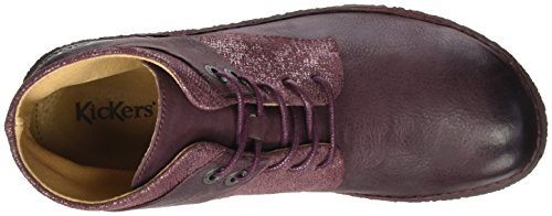 Kickers Derby Brillant Donna Hobylow Scarpe Rosso Bordeaux Stringate 18 xwtPxS