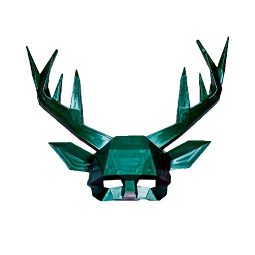 Halloween Antler Deer Mask Costume Masquerade Cosplay Party Supplies Prop as pic OneSize -