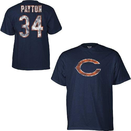 60ee4c6c6 Chicago Bears Walter Payton Reebok Throwback Distressed TEAM COLOR T Shirt  (XL)