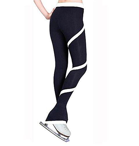 Blanc S SISHUINIANHUA LBFBRR Pantalons de Patinage Artistique Femme Enfant Fille Robe de Patinage Garder au Chaud Anti-Transpiration Exercice Tenues de Sport Tenue de