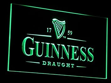 Amazon.com: Cerveza Guinness Vintages Bar LED Neon Sign Man ...