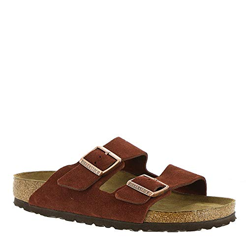 (Birkenstock Women's Arizona Soft Footbed Sandal Port Suede Size 39 N EU)