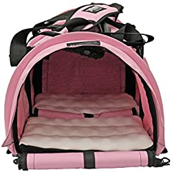 STURDI PRODUCTS StrudiBag Double Sided Divided Pet Carrier, Large, Soft Pink