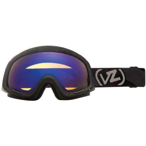 VonZipper Feenom Adult Winter Sport Snowmobile Goggles Eyewear - Black Satin/Astro Chrome / One Size Fits All