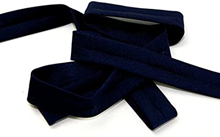 /par m/ètre sans Minerva Crafts Craft Guide 20/mm Ruban biais en Lycra bleu marine/