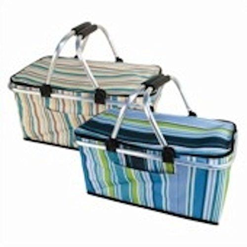 BBQ - Cesto da picnic pieghevole, disponibile in vari colori