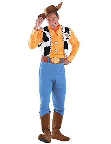 Disguise Men's Woody Deluxe Adult Costume,Multi,XL (42-46)