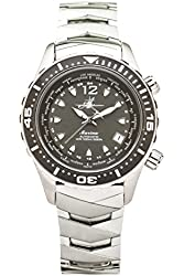 The Abingdon Co Marina Dive Watch in Belize Black with Wetsuit Band Expander