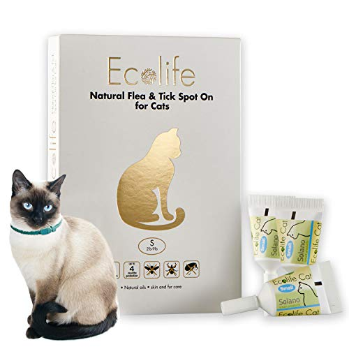 Ecolife Spot On Flea and Tick Repellent for Cats and Kittens (Small)