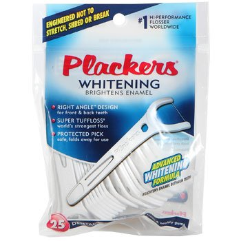 Plackers Whitening Right Angle Flossers, 25 Count (Angle Whitening Right)