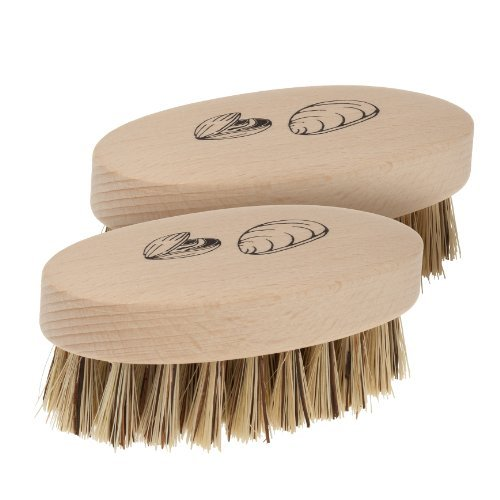 Redecker Mussel Brush with Natural Beechwood Handle, 3-3/4-Inches, Set of 2 by REDECKER (Image #2)
