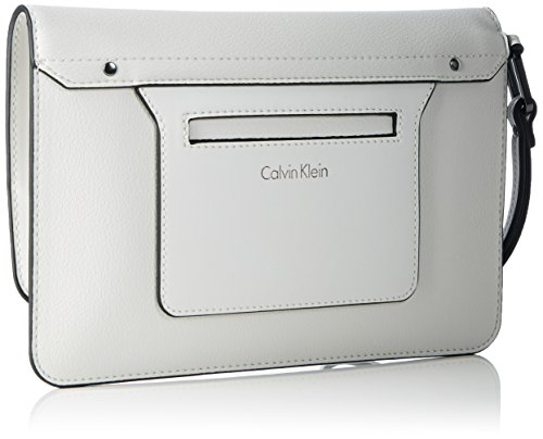 Calvin Klein Damen Heath3r Clutch, 2x17x25 cm Powder White