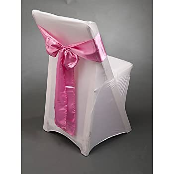 Pink Satin Chair Sash Package of 10