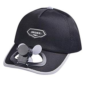 TWIFER Sombrero de b/éisbol Fan sombrilla del USB de la bater/ía de Litio Hombres y Mujeres sombrilla del par del Viento Camping Senderismo Gorra de Pico con Ventilador Solar Powered Hat