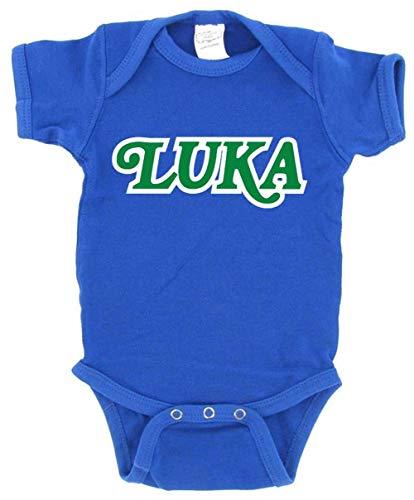 Blue Dallas Luka Old School Logo Baby 1 Piece