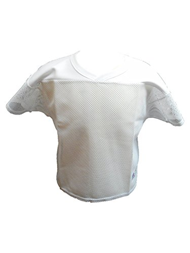 Russell Athletic 10966MK Adult Football Practice Mesh Jersey (XXX-large, White) Russell Athletic White Football Jersey