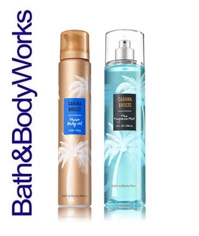 Cabana Gift Set - Bath & Body Works Signature Collection CABANA BREEZE Gift Set ~ Sheer Body Oil & Fine Fragrance Mist