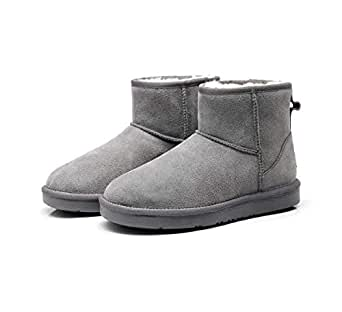 2019 New Premium Wool UGG Women/Men Classic Ankle Boots (US 6, GREY)