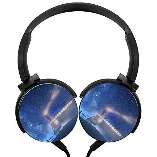 Sea Train Stars Night Headphones 3D Printed Over-Ear Lightweight Headphone for Kids Men Women