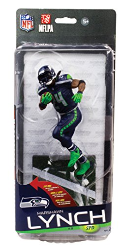 NFL Seattle Seahawks Series 35 Action Figure Clark Toys Exclusive Marshawn Lynch