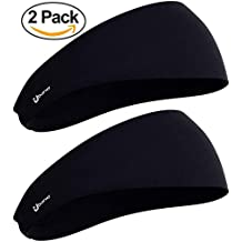 Self Pro Mens Headbands 2 or 3 Pack Guys Sweatband & Sports Headband for Running, Crossfit, Racquetball, Working Out - Performance Stretch & Moisture Wicking