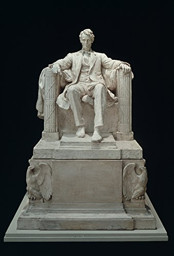 Lincoln Memorial Statue Nmarble Statue Of Abraham Lincoln By Daniel Chester French In The Lincoln Memorial Washington DC Poster Print by (18 x 24)