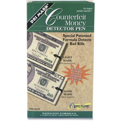 - Dri Mark Smart Money Counterfeit Bill Detector Pen for Use with U.S. Currency, Dozen