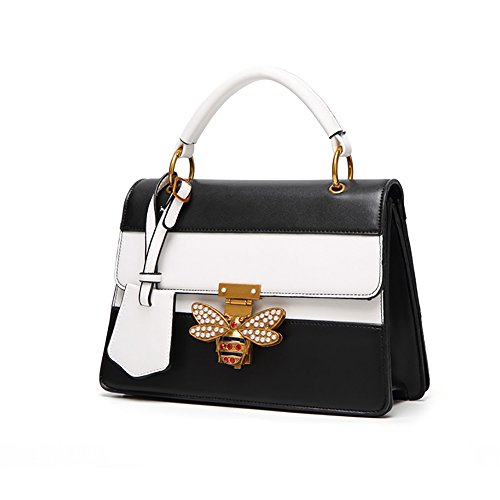 Decorative Shoulder Female Hit Hardware Amyannie Bag Bee Casual Black Messenger Color pqwT6naAxg