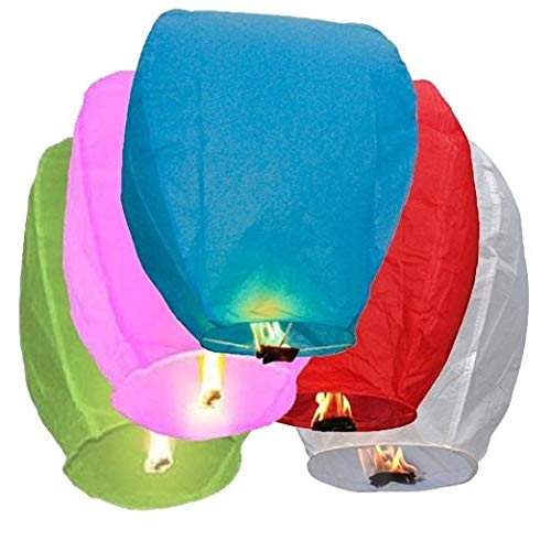 ity Chinese Flying Sky Lanterns, 20 Pack Assorted 100% Biodegradable, Fully Assembled and Fuel Cell Attached by Creatov Toys ()