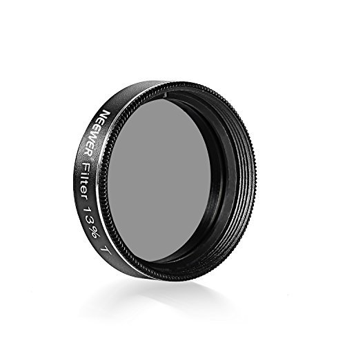Neewer 1.25 inches 13 Percent Transmission Neutral Density Moon Filter, Aluminum Frame Plastic Thread Optical Glass Telescope Eyepiece Filter Helping Reduce Overall Brightness and Irradiation (Black)