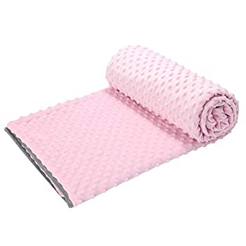 Image of HOSUKKO 41?x60? Duvet Cover for Weighted Blanket Ultra Super Soft Minky Dot Removable Just Cover Pink HOSUKKO B07QL8GH6B Weighted Blankets