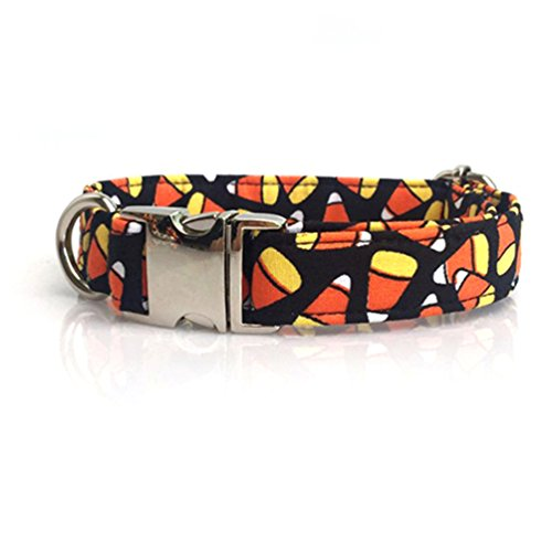 Kuntrona Halloween little pumpkin bowtie dog collar cat collar adjustable buckle pet accseeary -
