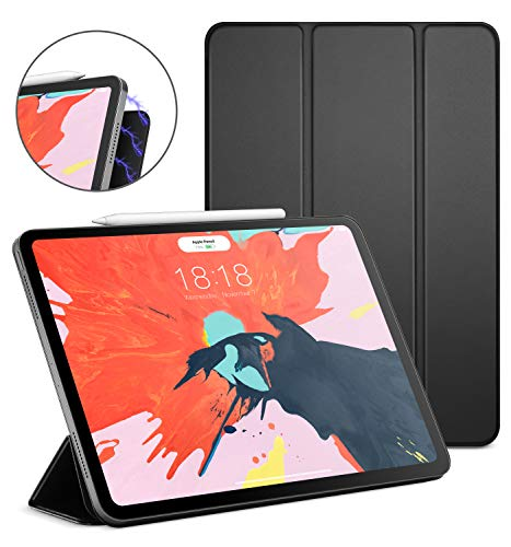 DTTO iPad Pro 12.9 Case 3rd Gen 2018, [Apple Pencil Pair and Charge Supported] Magnetic Attached Smart Cover with All 102 Magnets Precisely Aligned, Auto Sleep/Wake for iPad Pro 12.9 Inch, Black