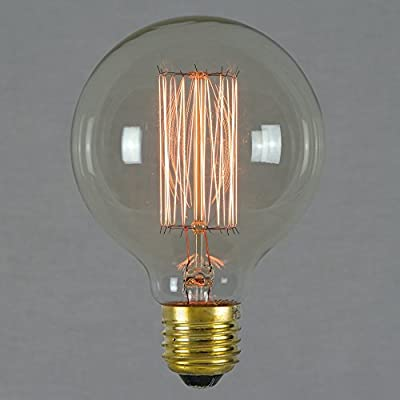 vintage edison light bulb 60w - squirrel cage globe 80mm e27 es dimmable - the retro boutique ® Vintage Edison Light Bulb 60w – Squirrel Cage Globe 80mm E27 ES Dimmable – The Retro Boutique ® 4132lU DpJL