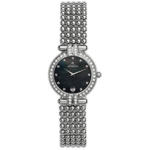 MICHEL HERBELIN WOMEN'S STEEL BRACELET & CASE QUARTZ ANALOG WATCH 16873/44XB49