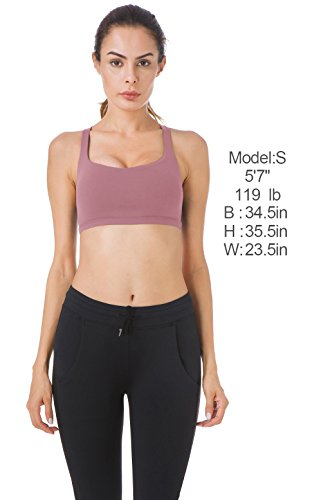 Queenie Ke Womens Yoga Sport Bra Light Support Strappy Free to Be Bra
