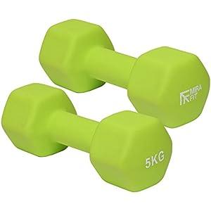 MiraFit Grüne Softtouch Mini-Hex-Kurzhanteln ‑ verschiedene Größen