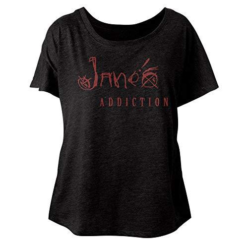American Classics Janes Addiction Jane'S Addiction Vintage Black Ladies Dolman Slouchy T-Shirt Tee
