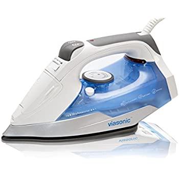 Viasonic Premium+ Steam Iron 1400W, Anti-Drip & Self-Cleaning, Anti-Calcium, Vertical Steam, NonStick Soleplate, XL 250ML Tank - Steam, Spray, & Dry Functions - ETL Listed, by Unity