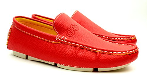 Unisex Mocasines Sin Cordones Informal Mocasines Zapatos De Conducción Cómodo Moda Suela Tallas Rojo