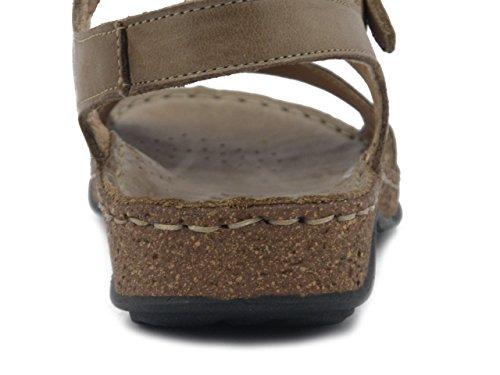 Greenhill sandalo in pelle marrone tabacco, 35580 E17