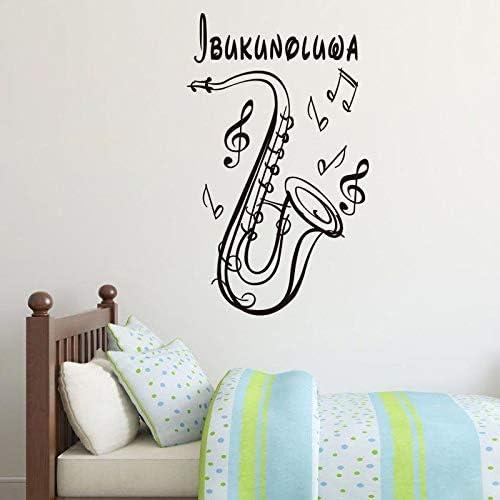Crjzty Saxofón Notas Musicales Pegatinas de Vinilo Arte Tatuajes ...