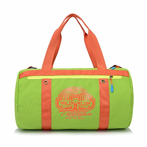 Swimming bag dry and wet separation large capacity beach bag men and women package bag portable waterproof travel outdoor package green 44 24 24CM by BBagi