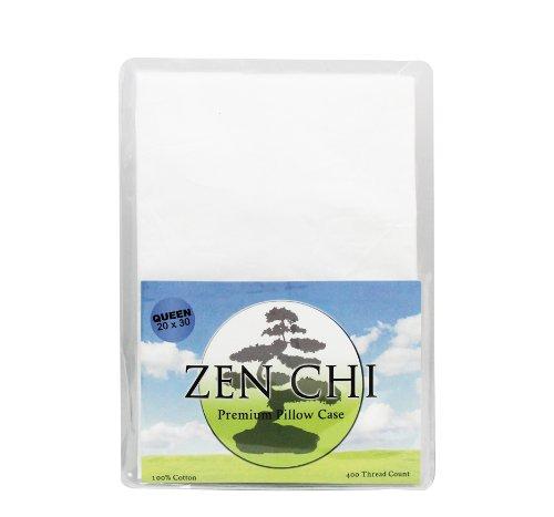 Buckwheat Pillow Case - Zen Chi 100% 400 Thread Count Premium Pillow Case - Fits All Queen Sized Pillows (20' X 30')