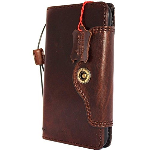 Original Vintage Leder Handmade Safe für Apple iPhone 6S Plus Wallet Lite Retro AU