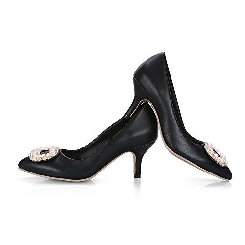 Inconnu 1TO9 Mms02939, Sandales Compensées Femme - Noir - Noir, 36.5 EU