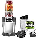 """Ninja BL480REF Certified Refurbished """"Nutri Ninja Auto-iQ"""" Blender, Silver/Black"""