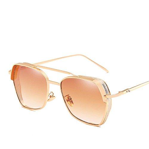 Aoligei Épais-bord lunettes de soleil de personnalité européenne et américaine de maille creuse marée hommes et femmes générales lunettes de soleil c8WA34X